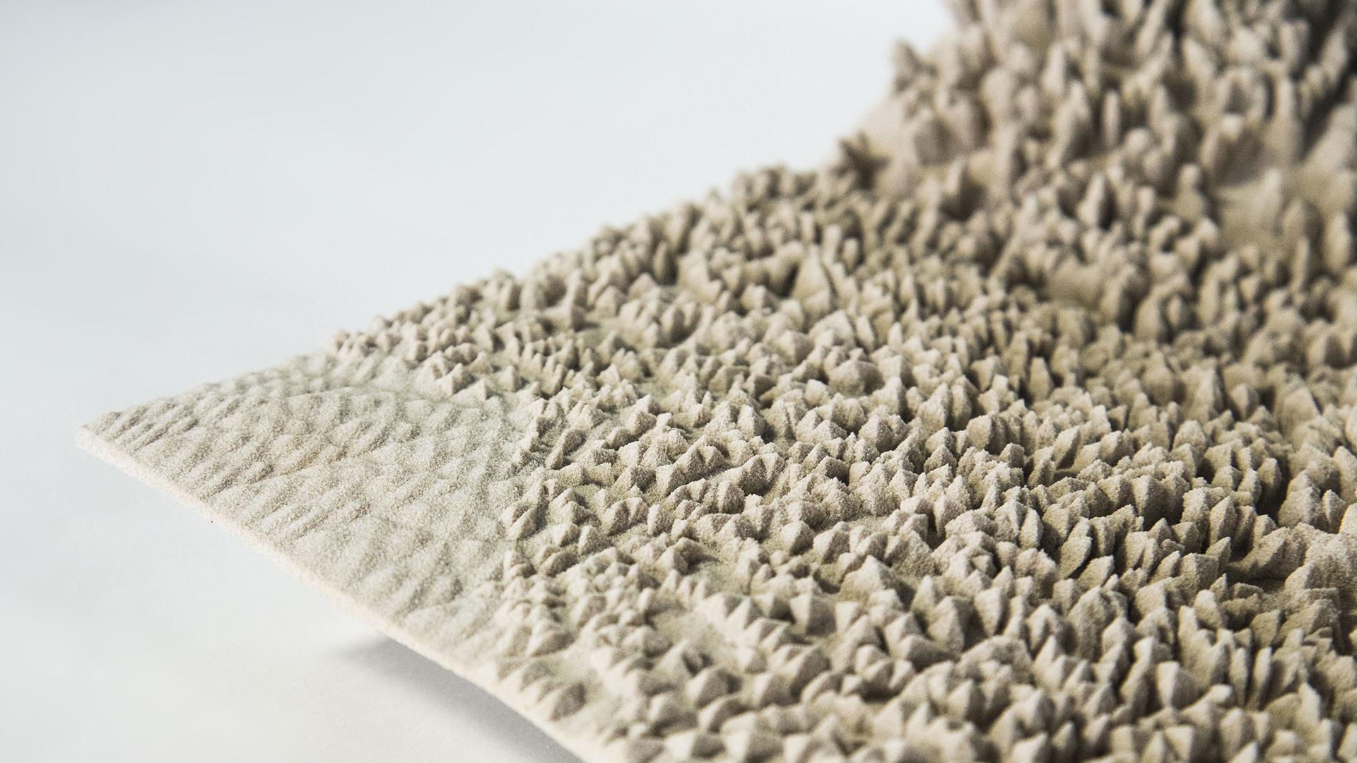 3D printed acoustic translucent ceiling panel (Alexander Enz, Matteo Lomaglio)